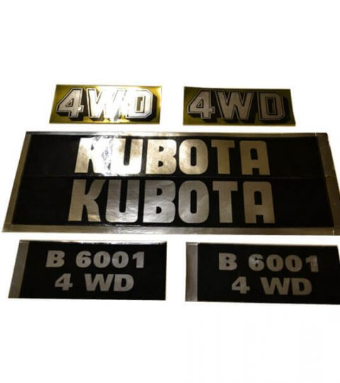 Stickerset Kubota B6001 4WD