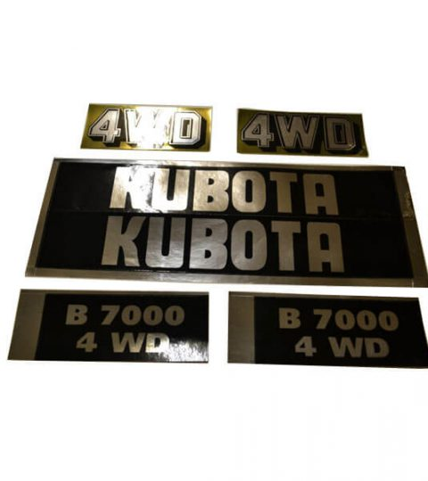 Stickerset Kubota B7000 4WD