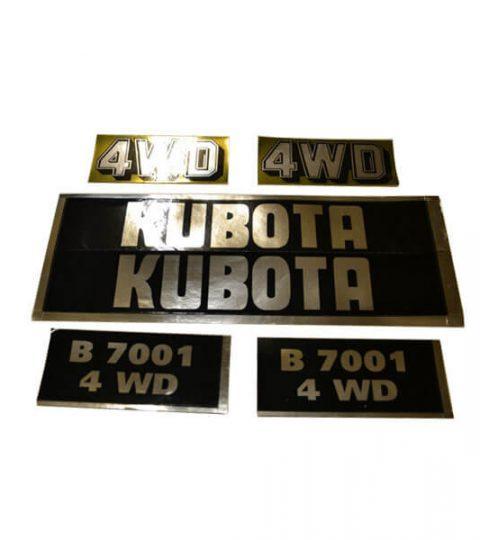 Stickerset Kubota B7001 4WD